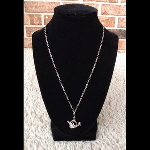 French Horn Silver Necklace w/ Charm